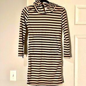 NWT Fashion Small Black/Cream Hooded Dress
